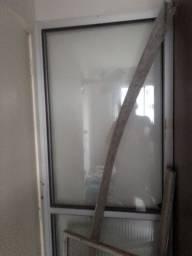 Porta de correr de aluminio