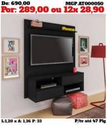 Painel de televisão até 50 Plg-Painel de tv grande-Sala de Estar-Embalado