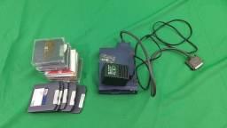 zip drive iomega com 12 discos modelo porta paralela