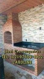 Churrasqueira e telhado Colonial / Clássico e sofisticado!!!!!