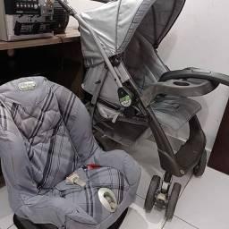 Carrinho de bebê e cadeirinha inclinável Burigotto