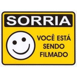 (WhatsApp) placa de sinalização - sorria você está sendo filmado