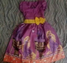 Vestido Rapunzel Tamanho 8 Promoção