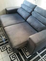 Sofa de 2 lugares. Retrateis, Reclinavel chumbo