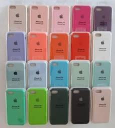 Case Capinha Aveludada C/ Logo Apple iPhone