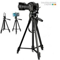 Tripe De Aluminio Preto Para Camera e celular ate 1.80m - Sl-3600 Pro