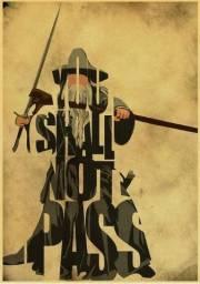 Posteres Harry Potter e Gandalf senhor dos aneis