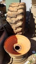 Duas rodas aro 24 de retro escavadeira