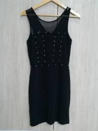Vestido preto estiloso Fruty Brazil