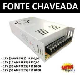 Fonte de Alimentação ( 12V - Chaveada ) 5A - 10A - 30A - 50A