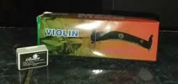 Espaleira violino 4/4 + Breu rosin parcelo em 12x sem juros frete gratis