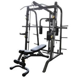Estação de Musculação GONEW 5.0 Limited c/ Rack e Banco