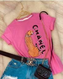 T-shirt Chanel Animal Print Luxo