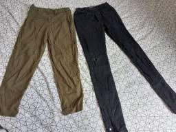 Calça jeans preta e cigarrete (n°36) 40,00 as duas