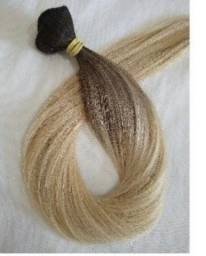 Cabelo humano loiro para mega hair 50 cm