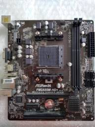 Placa mãe AMD ASrock FM2A55m HD+