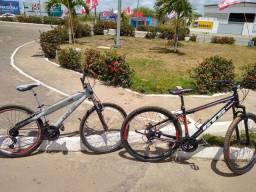 Vendo 2 bikes uma Caloi TRS QUADRO DE ALUMÍNIO E BIKE GTS ARO 29 com 21 machas