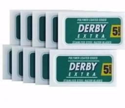 Lâminas Derby Extra Platinum Cartela com 50 lâminas
