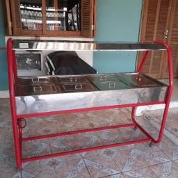 Buffet Quente 7 Cubas Carro Térmico Self Service