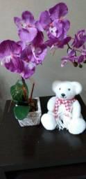 Arranjo de Flores Artificiais Orquídea