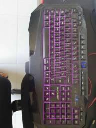 Teclado Gamer Multilaser 3 cores