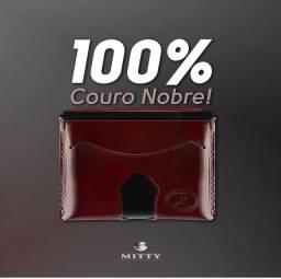 Carteiras mitty 100% couro, original