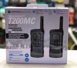 Rádio Comunicador Motorola T200MC 20 Milhas / 32 km Bivolt - Preto / Cinza