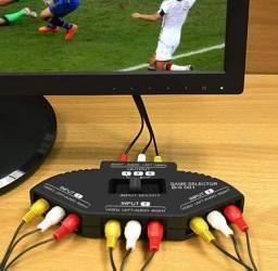 Chave Seletora Audio E Video Rca 3x1 Tv Dvd Ps2 Ps3 Xbox