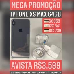 iPhone XS Max 64gb, aceitamos seu iPhone usado como parte do pagamento.