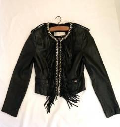 Jaqueta de couro legítimo Elisabetta Franchi - TAM 42