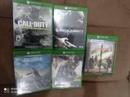 Jogos Xbox One Zerados , Mortal Kombat X<br>Ryse<br>Falo of Duty<br>The Division2<br>Final Fantasy XV