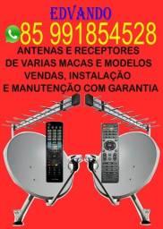 Antenas receptores e acessórios