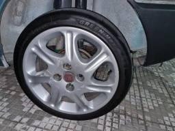 Título do anúncio: Rodas de Liga Leve Aro 15 com pneus
