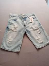 2 bermuda jeans nova por 100