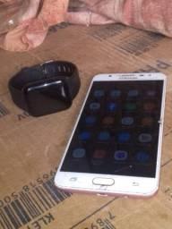 Samsung J7 prime, relógio inteligente