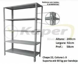 Prateleira de Aço prof. 58cm ( Industrial ) promoção