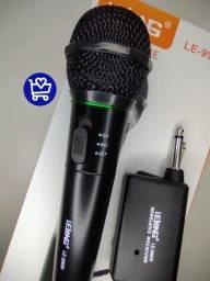 *Microfone Lelong Sem fio LE-996W*