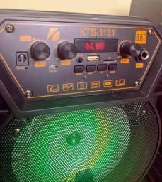 Caixa de som KTS 1131 com controle , microfone sem fio e conexão bluetooth !