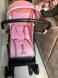 Vendo carrinho/bebê conforto Tutti Baby Rosa