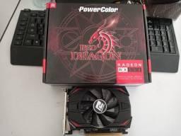 Placa de Vídeo RX 550 4GB Power Color - Red Dragon