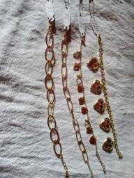 Jóias folheadas e semi jóias