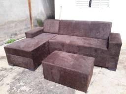 sofá com puff planeta móveis
