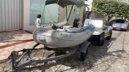 Título do anúncio: Conjunto bote inflável motor 15 hp e carreta rodoviária leia a descrição
