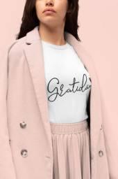 Blusa Feminina Moda 2021 Tshirt Gratidão