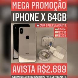 iPhone X 64gb, aceitamos seu iPhone usado como parte do pagamento.