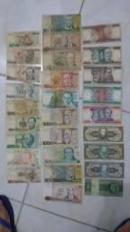 Coleção de dinheiro cédulas antigas