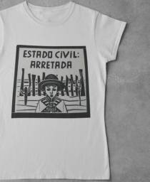 Blusa Feminina Moda 2021 Estilosa Tshirt Arretada Algodão