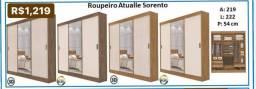 Roupeiro Atualle Sorento Guarda Roupa móveis 6568