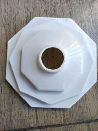 5x Plafon Plafonier Pvc Sextavado Branco