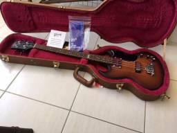 Baixo Gibson SG 2014 Edição de Aniversário 120th Fireburst Satin